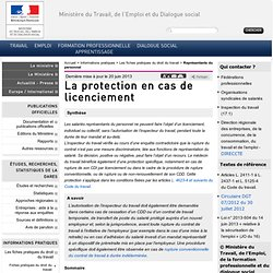 La protection en cas de licenciement