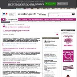 La protection des mineurs sur internet - Ministère de l'éducation nationale
