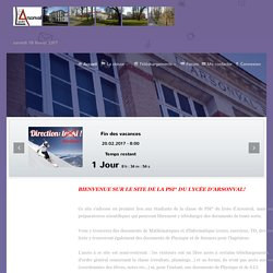 La PSI* du Lycée d'Arsonval - Accueil