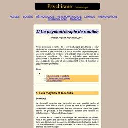La psychothérapie de soutien