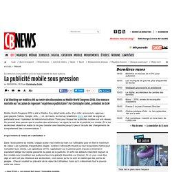 La publicité mobile sous pression