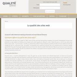 La qualité des sites web