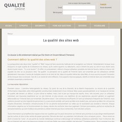 La qualité des sites web