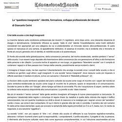 """La """"questione insegnante"""" - G. Cerini"""