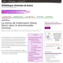 La racine de Codonopsis (Dang Shen)