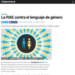 La RAE contra el lenguaje de género