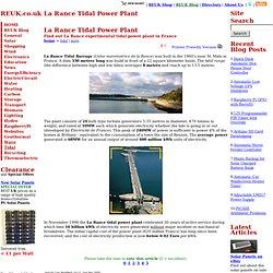 La Rance Tidal Power Plant - Tidal