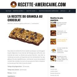 La recette du granola au chocolat