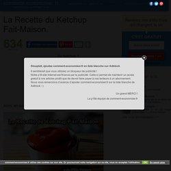 La Recette du Ketchup Fait-Maison.