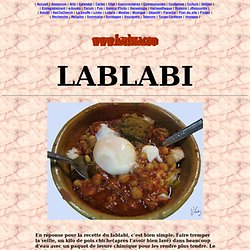 La recette du Lablabi