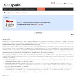 APROPAILLE / La recherche