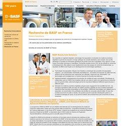 La recherche de BASF en France