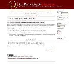 SITE : Revue La Recherche en éducation