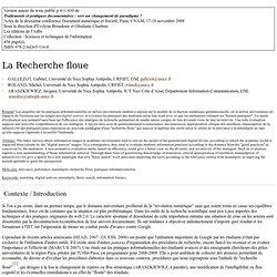 La Recherche floue - Wiki URFIST