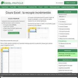 Cours Excel : la recopie incrémentée