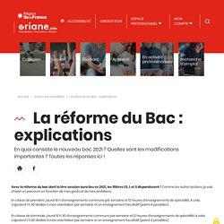 La réforme du Bac : explications