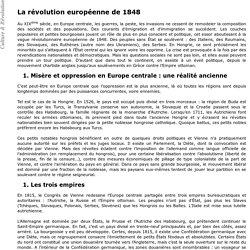 La révolution européenne de 1848