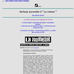 La Rumeur gagne son procès contre Sarkozy.