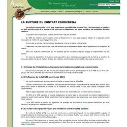 LA RUPTURE DU CONTRAT COMMERCIAL
