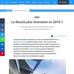 La Russie plus innovante en 2016?