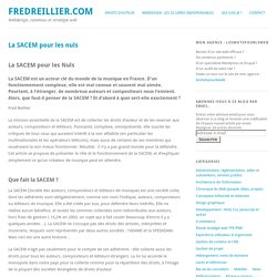 La SACEM pour les nuls - fredreillier.com