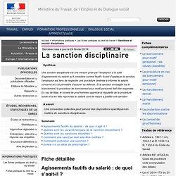 La sanction disciplinaire