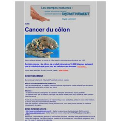 La santé au naturel : cancer du colon