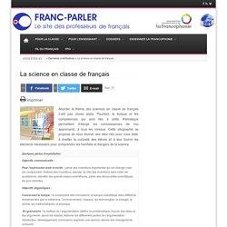 La science en classe de français