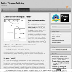 La science informatique à l'école par Samuel Chalifour