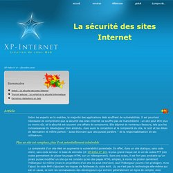 La sécurité des sites Internet