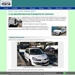 La sécurité dans les transports en commun