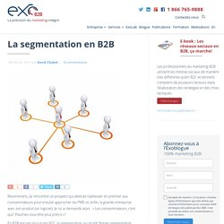 La segmentation en B2B