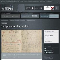 La signature de l'Armistice