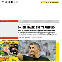 « La situation en Italie est terrible »