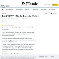 LA SITUATION à La Rochelle-Pallice