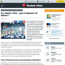 La smart city : pas toujours si smart !