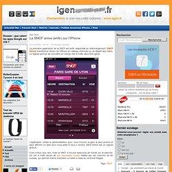 La SNCF arrive (enfin) sur l'iPhone