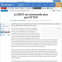 La SNCF ne commande plus que 35 TGV