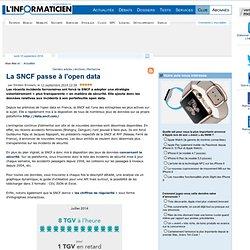La SNCF passe à l'open data