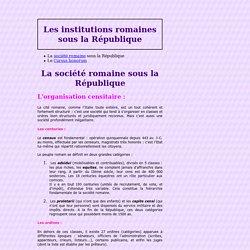 La société romaine sous la République