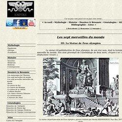 La Statue de Zeus olympien