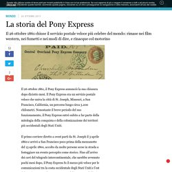 La storia del Pony Express