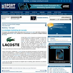 La stratégie marketing de Lacoste