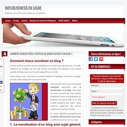 La stratégie de monétisation d'un blog