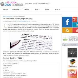 La structure d'une page HTML5