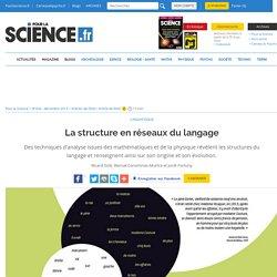 La structure en réseaux du langage