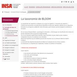 La taxonomie de BLOOM - Centre d'Innovation et d'Ingénierie Pédagogique
