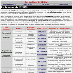 La taxonomie DISCAS