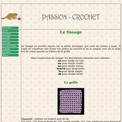 La technique du tissage au crochet