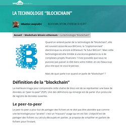 "La technologie ""blockchain"""
